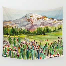 Mount Rainier National Park Wall Tapestry
