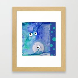 Bubble Monsters Framed Art Print