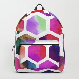 Pink Hexagons Backpack