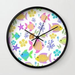 Colourful ocean fish Wall Clock