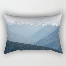 Olympic Mountains Rectangular Pillow