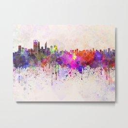 Perth skyline in watercolor background Metal Print