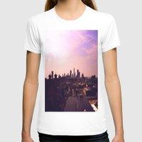 cleveland T-shirts featuring Cleveland Skyline by Toni Tylicki