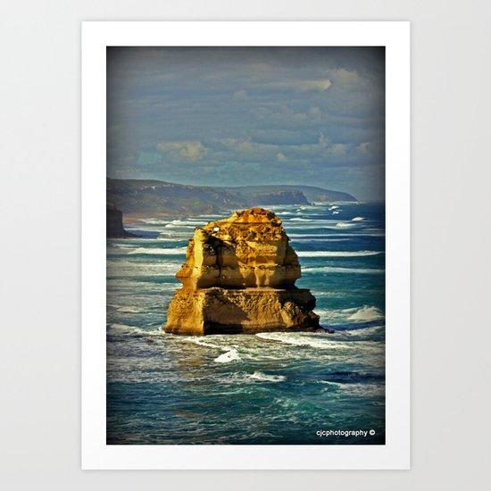 Lone limestone Rock Art Print