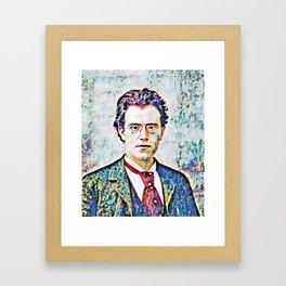 Gustav Mahler (1860 – 1911) Framed Art Print