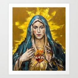 Cor Maria Sacratissimum Art Print