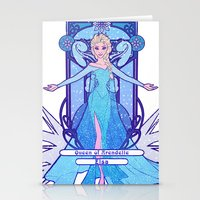 elsa Stationery Cards featuring Elsa by NicoleGrahamART