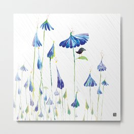 BLUE IS THE RAINIEST COLOR Metal Print