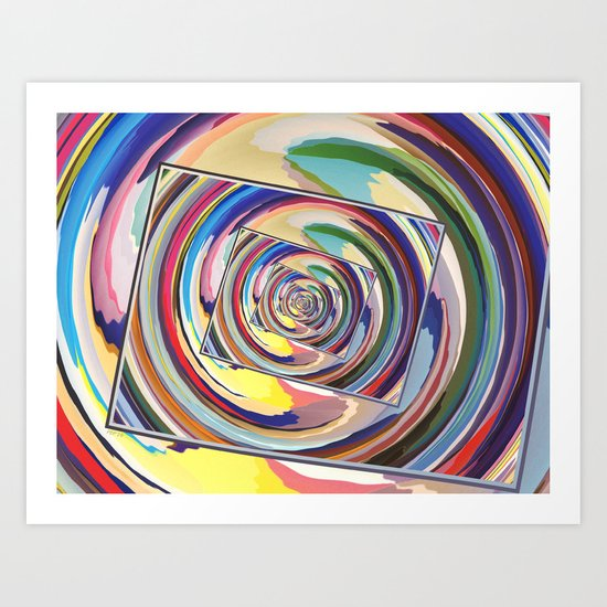 Spinning Colors Abstract Art Print