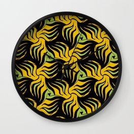 Wild Horses 2 pattern by Amanda Martinson Wall Clock