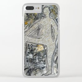 Mixed Media Art Print Clear iPhone Case