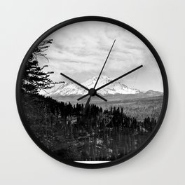 Mount Shasta, and neighboring mountain Shastina, Siskiyou County, ca.1900-1940 Wall Clock