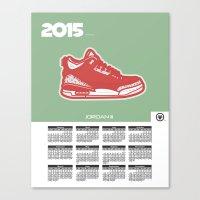 calendar 2015 Canvas Prints featuring 2015 Calendar  by Cierra Conley