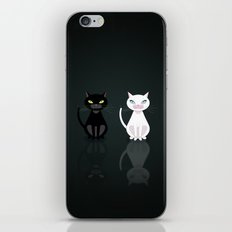 Black and White Cats iPhone & iPod Skin