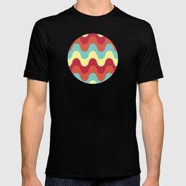 melting colors pattern T-shirt