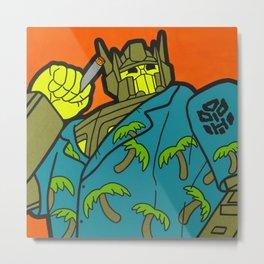Opti-Maui Prime - tiki pop art Metal Print