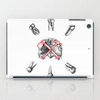 teeth iPad Cases featuring Teeth by Ilya kutoboy