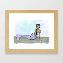 Calm Mermaid Framed Art Print