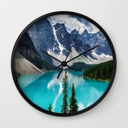 Lake Moraine Banff Wall Clock