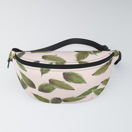 Pastel pink leaves Fanny Pack