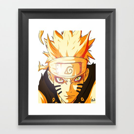 Naruto: Sage Beast Mode Framed Art Print