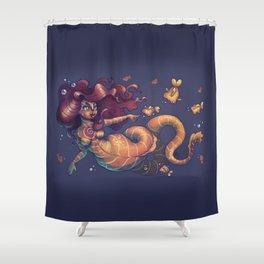 Curvy Mermaid Shower Curtain