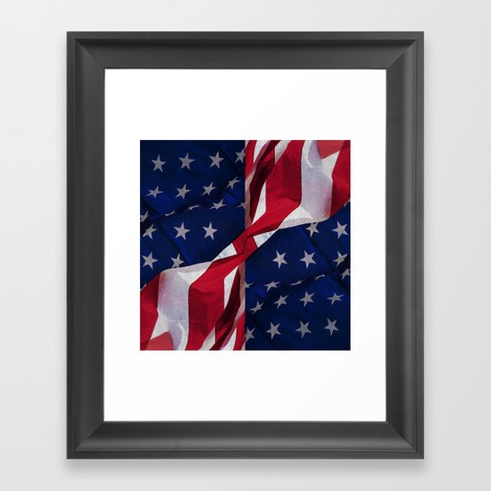 RED, WHITE AND BLUE Framed Art Print