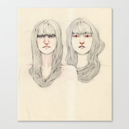 Hair Play 09 Canvas Print