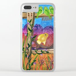 Desert Aquarium Clear iPhone Case