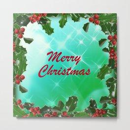 Merry Christmas Design Metal Print