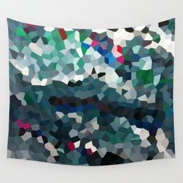 Emerald Sea Green Moon Love Wall Tapestry