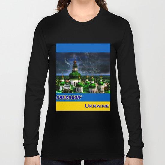 Domes of Trinity Cathedral, Chernigov, Ukraine Long Sleeve T-shirt