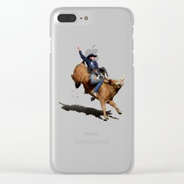 Bull Dust! - Rodeo Bull Riding Cowboy Clear iPhone Case