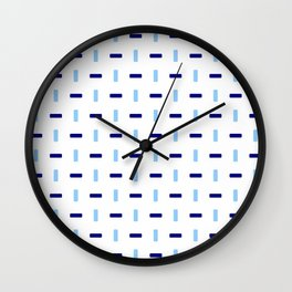 four lines 43 blue Wall Clock
