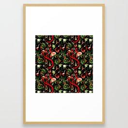Swirly Trendy_Black Framed Art Print