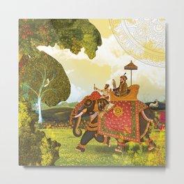 Royal trip at the time of Mughal era Metal Print