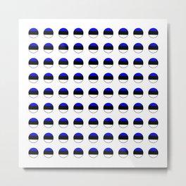 Flag of estonia 3-estonian,baltic,tallinn,tartu,eesti,balti,slav,viking,baltico,parnu Metal Print