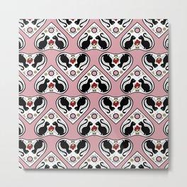 Cat Ouija (pink) Metal Print