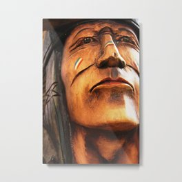Wooden Native American Indian Metal Print