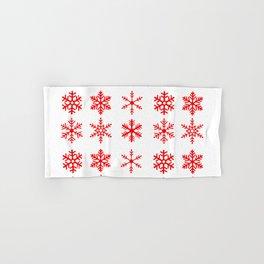 red snowflake seamless pattern Hand & Bath Towel