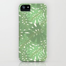 Vintage Florida Palm Fronds Pattern iPhone Case