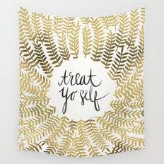 Treat Yo Self – Gold Wall Tapestry
