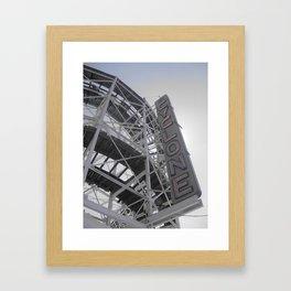 Cyclone Ride at Coney Island in Brooklyn Framed Art Print
