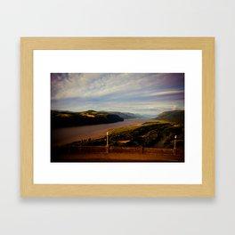 look away Framed Art Print