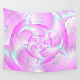 Spiral Pincers in Pink and Blue Wall Tapestry