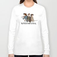 supernatural Long Sleeve T-shirts featuring Supernatural by KewlZidane