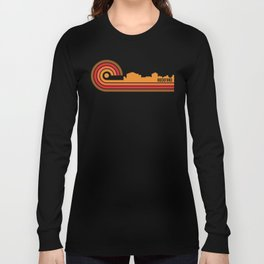 Retro Style Rockford Illinois Skyline Long Sleeve T-shirt