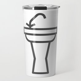 Faucet and sink bathroom elements in Design Fashion Modern Style Illustration Travel Mug