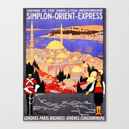 Vintage Simplon Orient Express London Constantinople Canvas Print