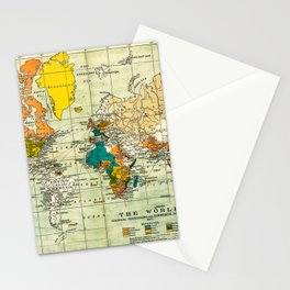 Map of the old world Stationery Cards